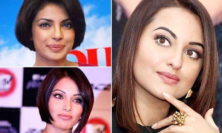 sonakshi sinha copies priyanka deepika s hairstyle to look