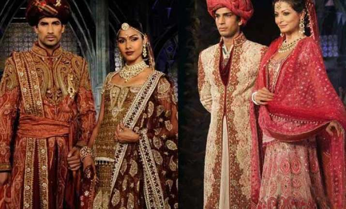 brides grooms opt vintage designs bolder colours stylists