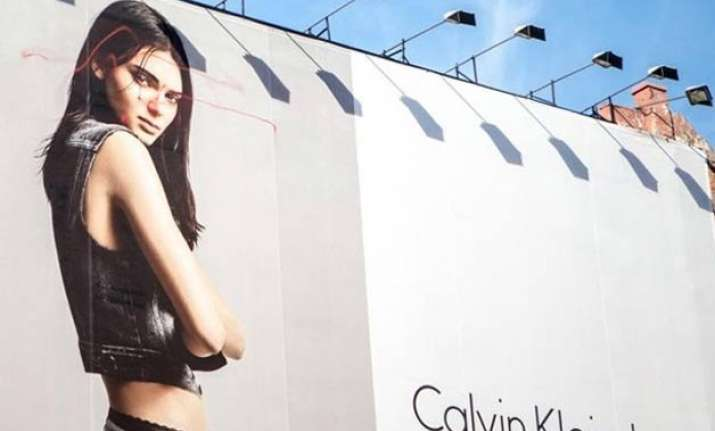 kendall s calvin klein ad vandalised in new york