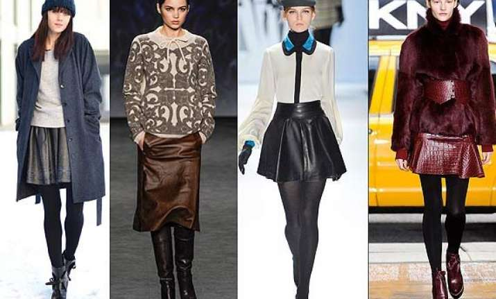 winter fashion add leather skirts to you wardrobe