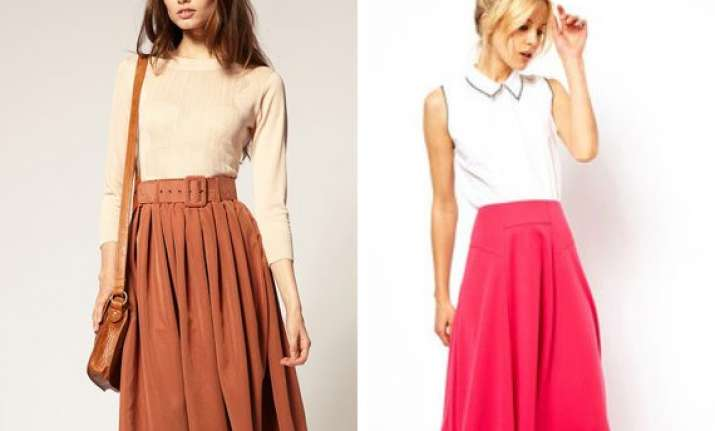 midi skirts fashion for autumn