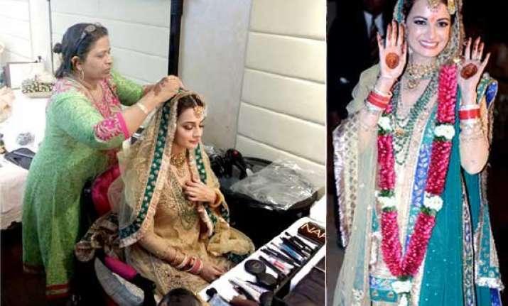 dia mirza s bridal avatar a perfect melange of simplicity
