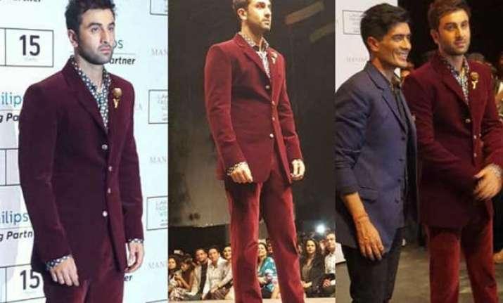 lakme fashion week what made ranbir kapoor so uneasy see
