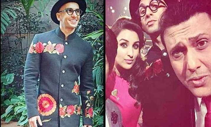 ranveer singh goes all flowery and unconventional at kbc 8