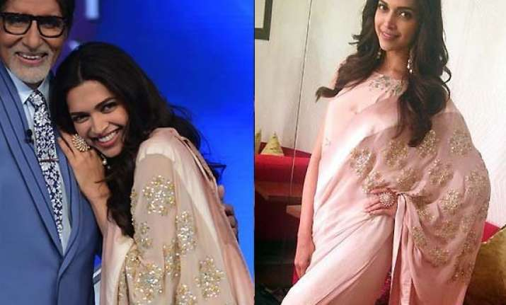 deepika padukone drops her findingfanny look opts saree for