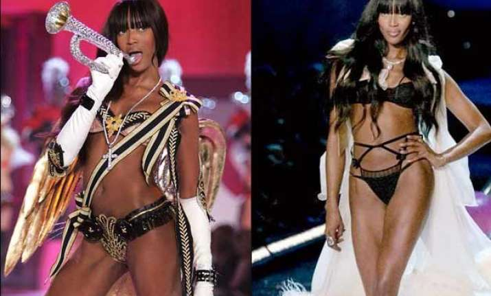 naomi campbell endorses lingerie at 45