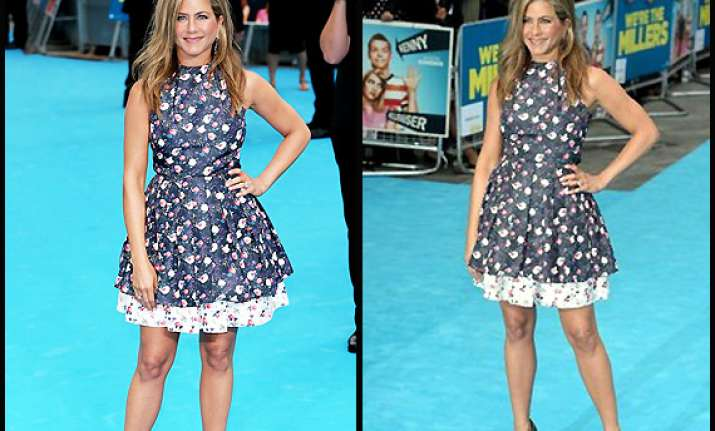 jennifer looked chic in a flirty floral skater dress see