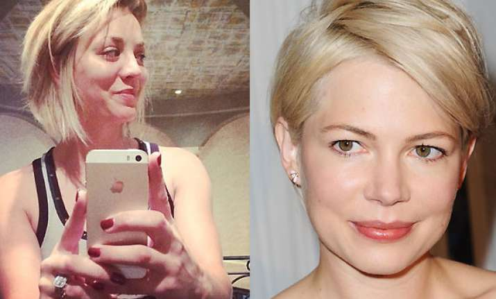 Kaley Cuocos Bob Haircut Inspired By Actress Michelle Williams