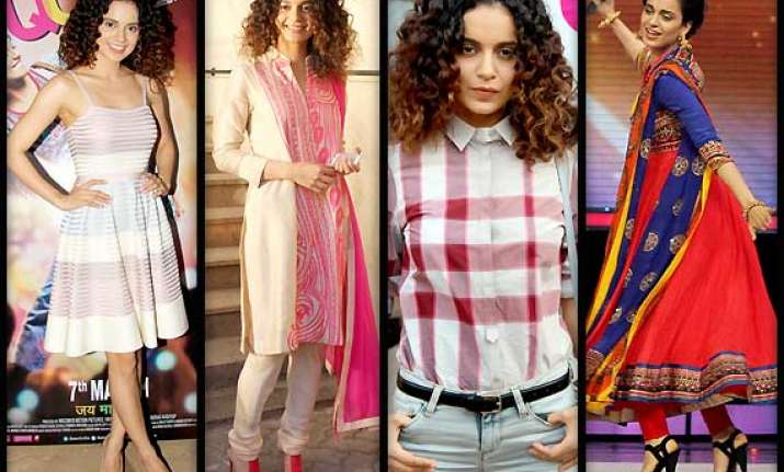 kangana ranaut is back with her curls promotes queen in