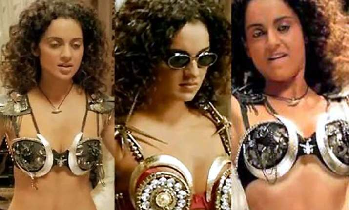 kangana ranaut stuns fans by donning studded metallic bras
