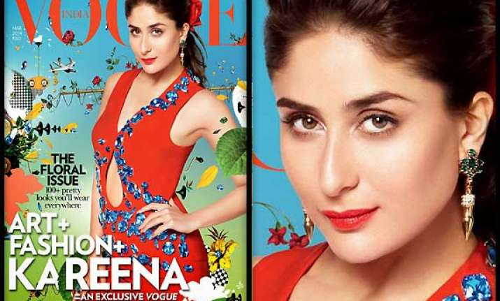 kareena kapoor looks dewy fresh on vogue s cover page see