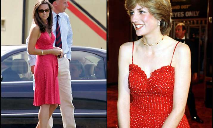stunning kate middleton copies late mother in law princess