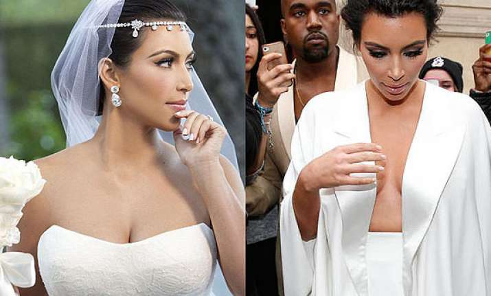 revealed kim kardashian s wedding dress was designed by