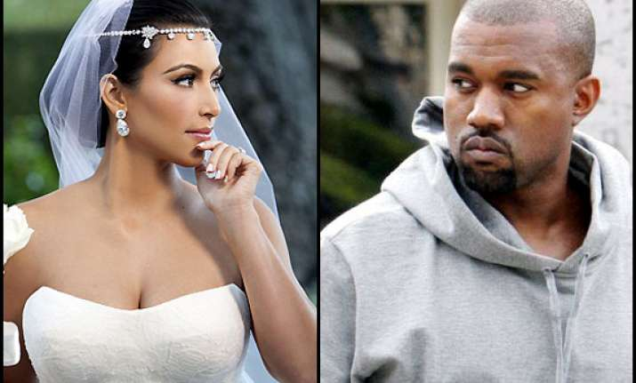 kanye won t let fiance kim wear vera wang gown for wedding