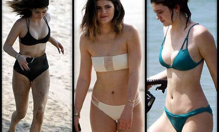 kylie jenner unveils her impressive bikini collection on