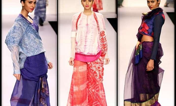 lakme fashion week 2014 krishna mehta s maheshwar designs