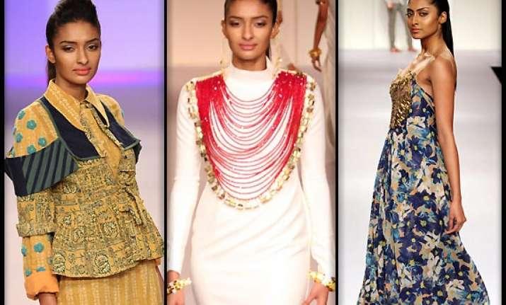 lakme fashion week 2014 designers sengar mrinalini karishma