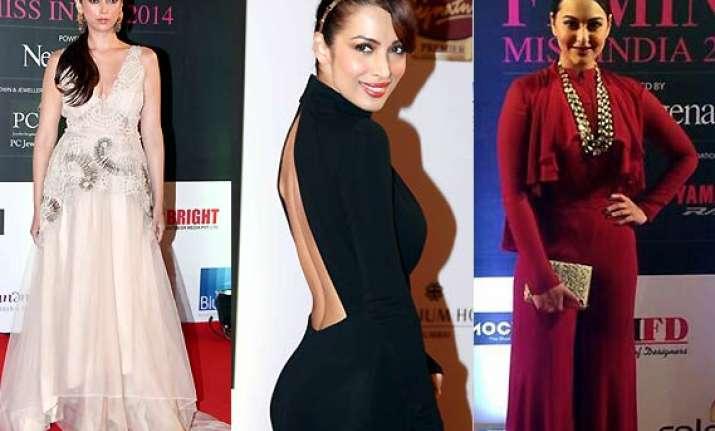sonakshi malaika aditi raise the temp at femina miss india