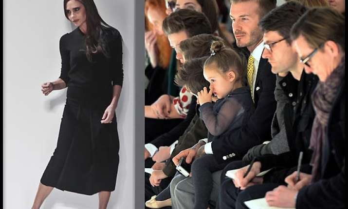 new york fashion week beckham s runway show is a family