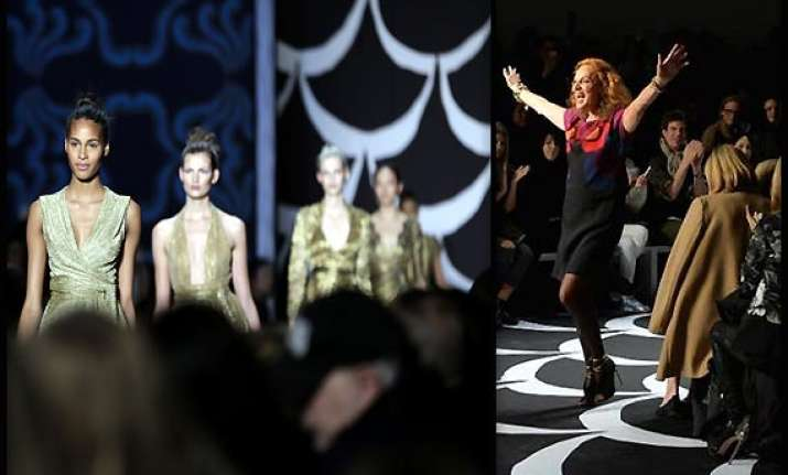 new york fashion week dvf marks wrap dress anniversary with