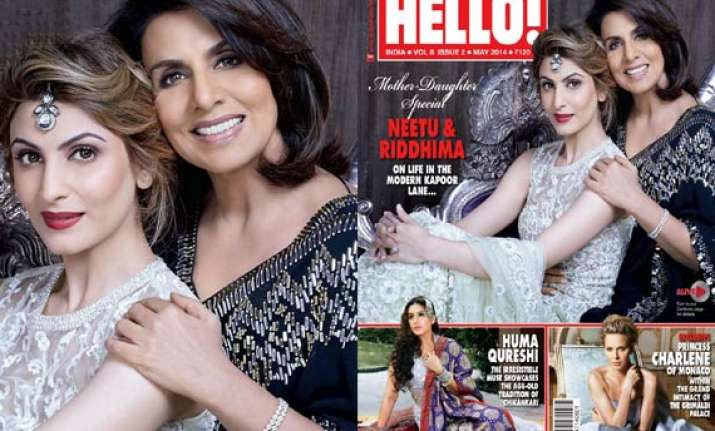 neetu and riddhima kapoor dazzle on the cover of hello see