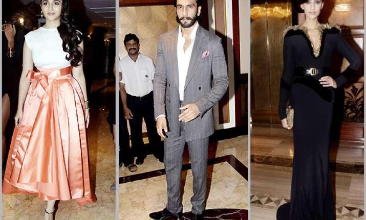 ranveer alia sonam at vogue india beauty awards view pics