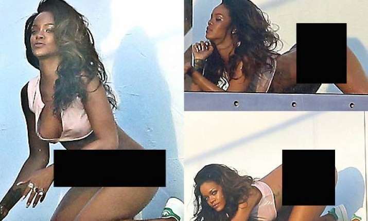 rihanna bares her derriere for photoshoot view pics