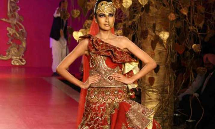 ritu beri plumbed punjabi roots for couture collection