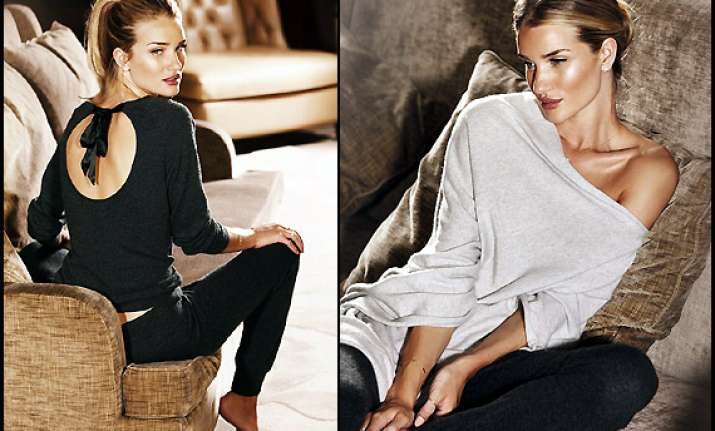 rosie huntington whiteley launches sexy sleepwear range
