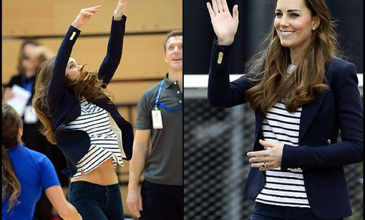 royal tummy is back in shape kate middleton shows off a