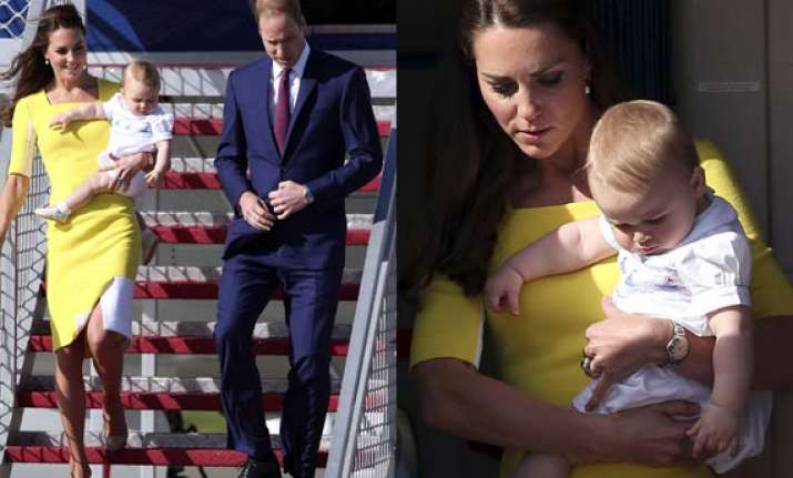 prince george back to his fashion best as royal couple
