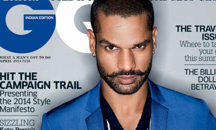 shikhar dhawan on men s fashion magazine cover see pics
