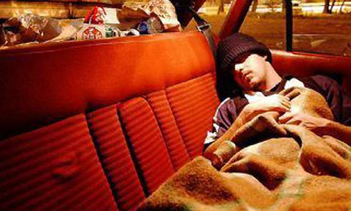 some britons sleep in car to save money