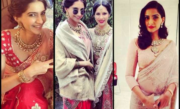sonam kapoor stuns all at friend s wedding in delhi see pics