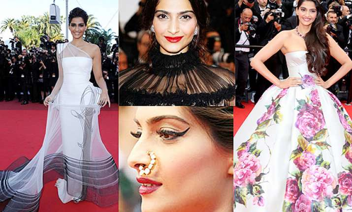 cannes 2014 sonam kapoor s red carpet appearances so far