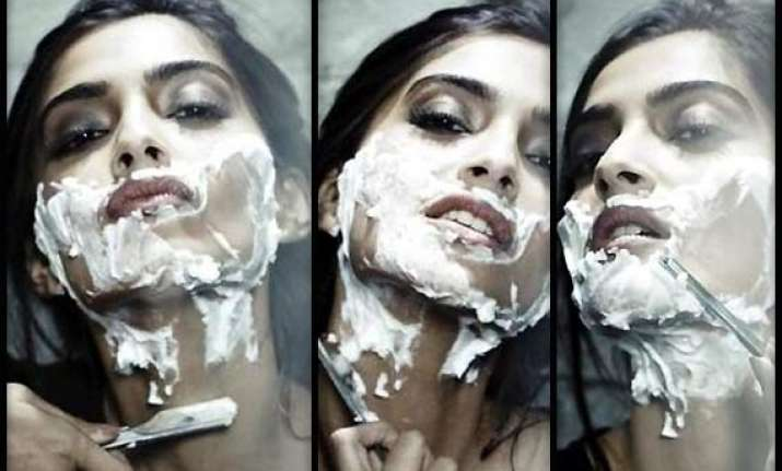 huh is that sonam kapoor shaving her face see pics