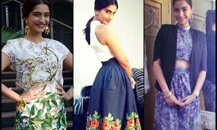 sonam dazzles in vintage looks for bewkoofian promotion see