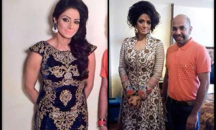 sridevi stuns in an all new look see pics