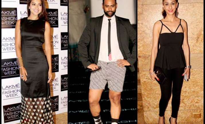 lakme fashion week 2014 gauhar andy shilpa at their