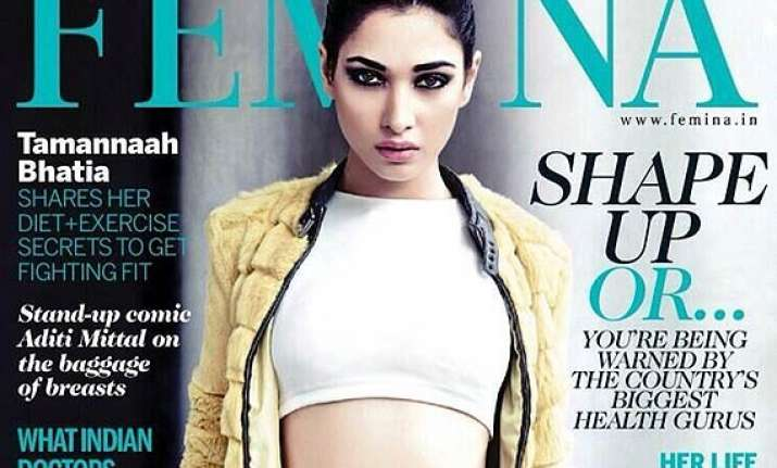 fighting fit tamanna bhatia sizzles as femina cover girl
