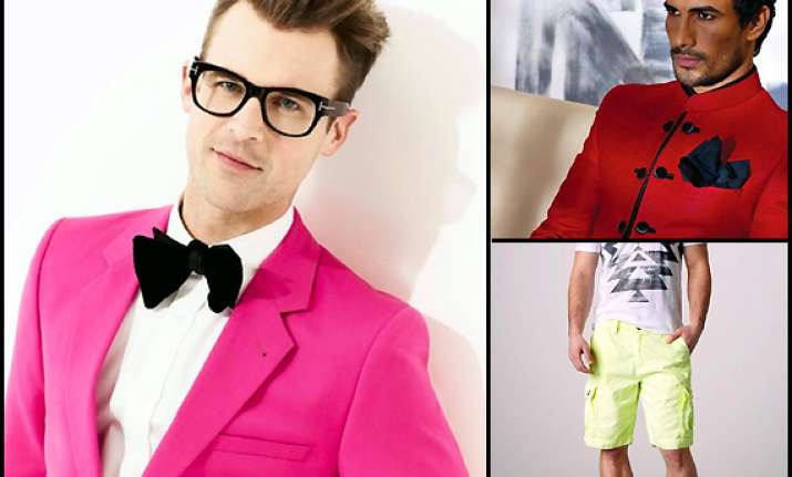time for men to go bold with neon colours view pics