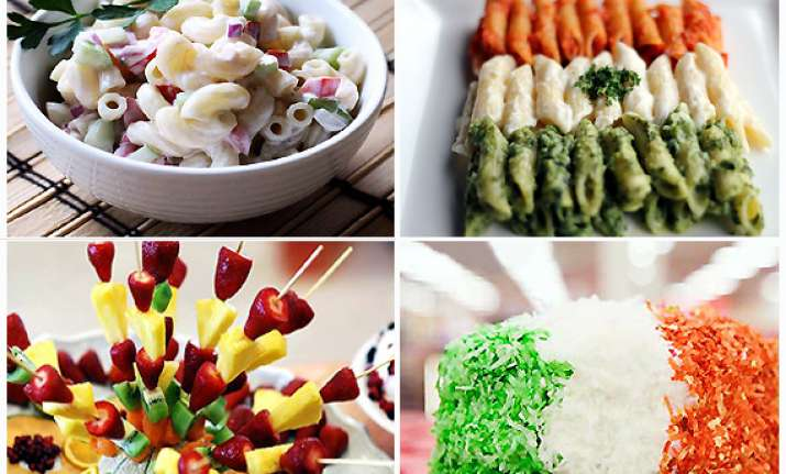 tri coloured recipes for i day