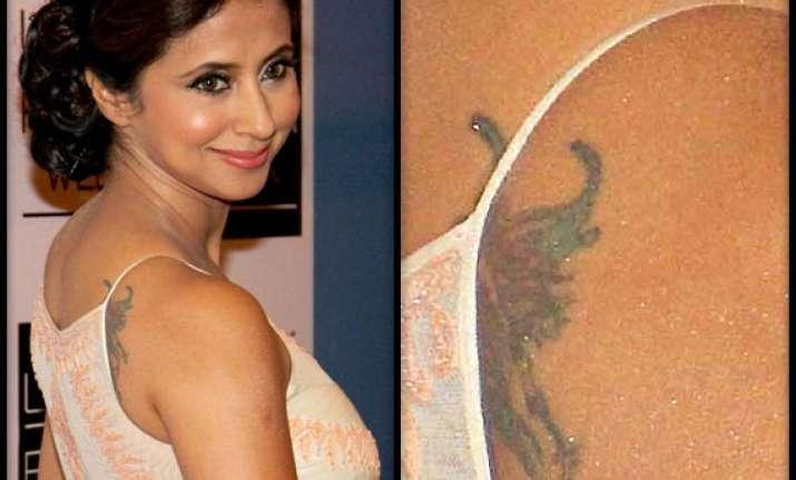 urmila matondkar flaunts tattoo at lakme fashion week 2014