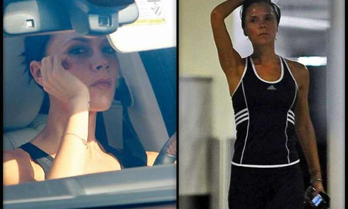 victoria beckham opts for skype for personal training