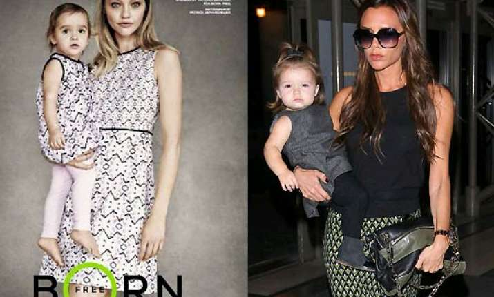 victoria beckham designs mommy and me clothing range for