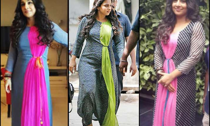 vidya balan spotted repeating her dress thrice see pics