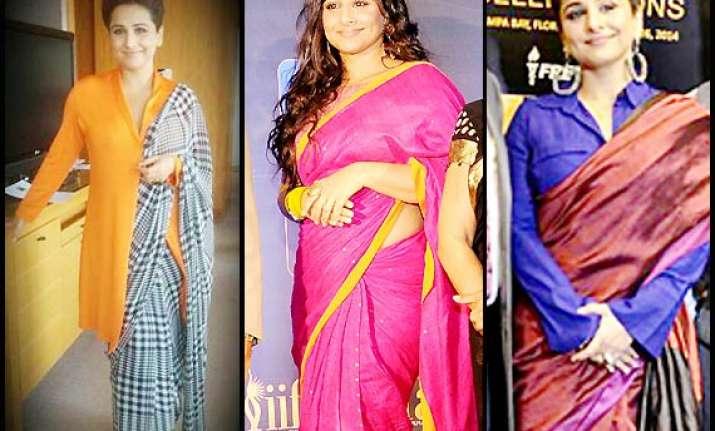 vidya balan sassy and sexy looks in saree see pics