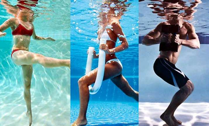 try water exercise to stay fit see pics
