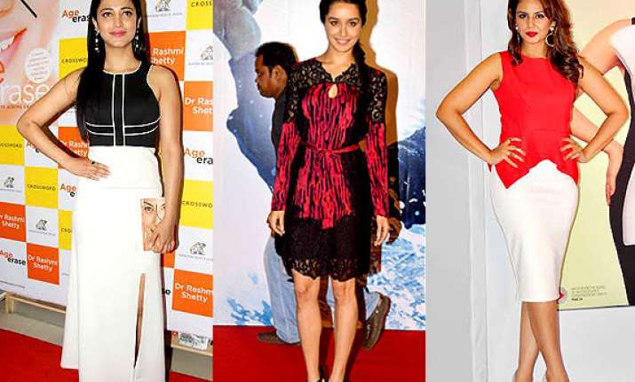 high on fashion shraddha shruti huma stole the hearts this