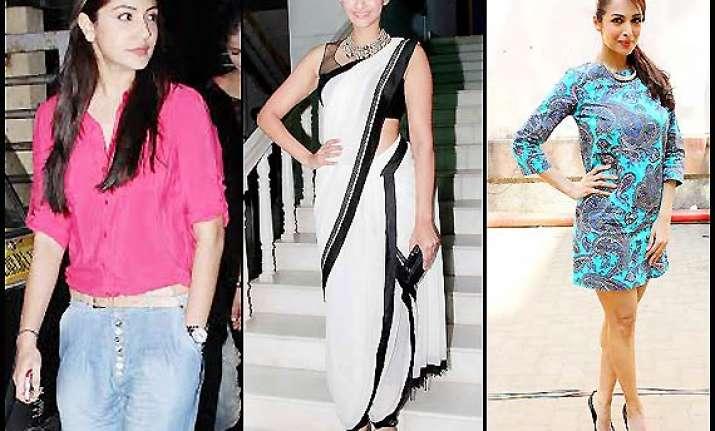 this week s fashion report sonam anushka maliaka look sexy